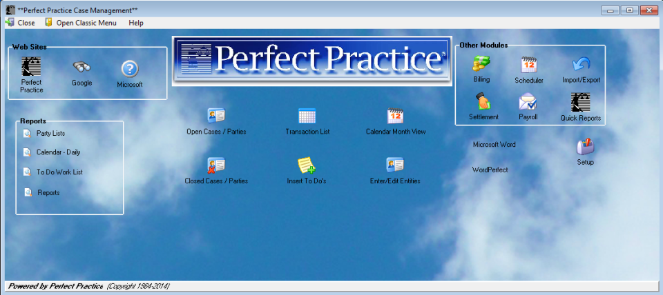 Perfect Practice Software - Case Management