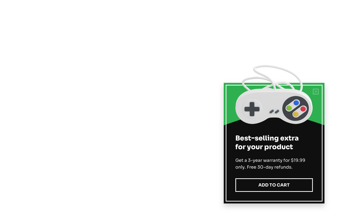 Notify visitors about sales