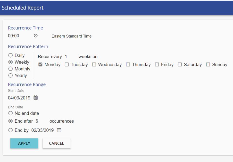 TutorPro LMS Software - Scheduled Reporting