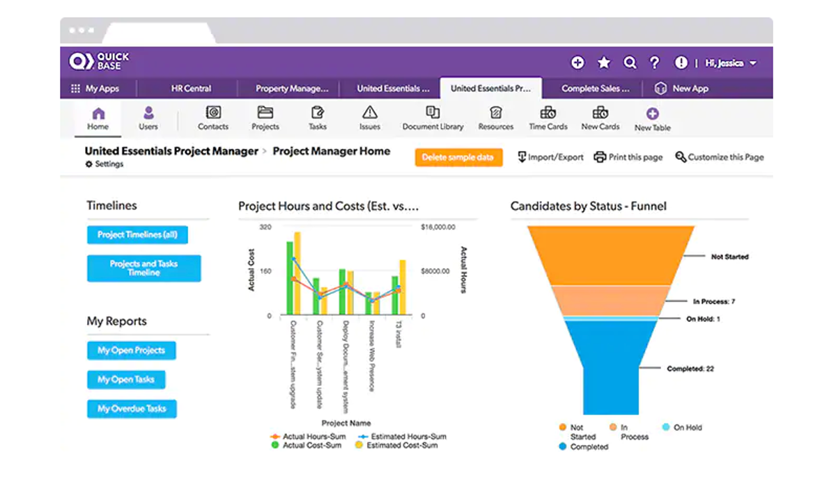 Process Management Dashboard