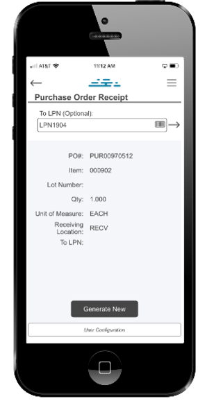 DSI®'s Cloud Inventory® PO Receipt Item Info