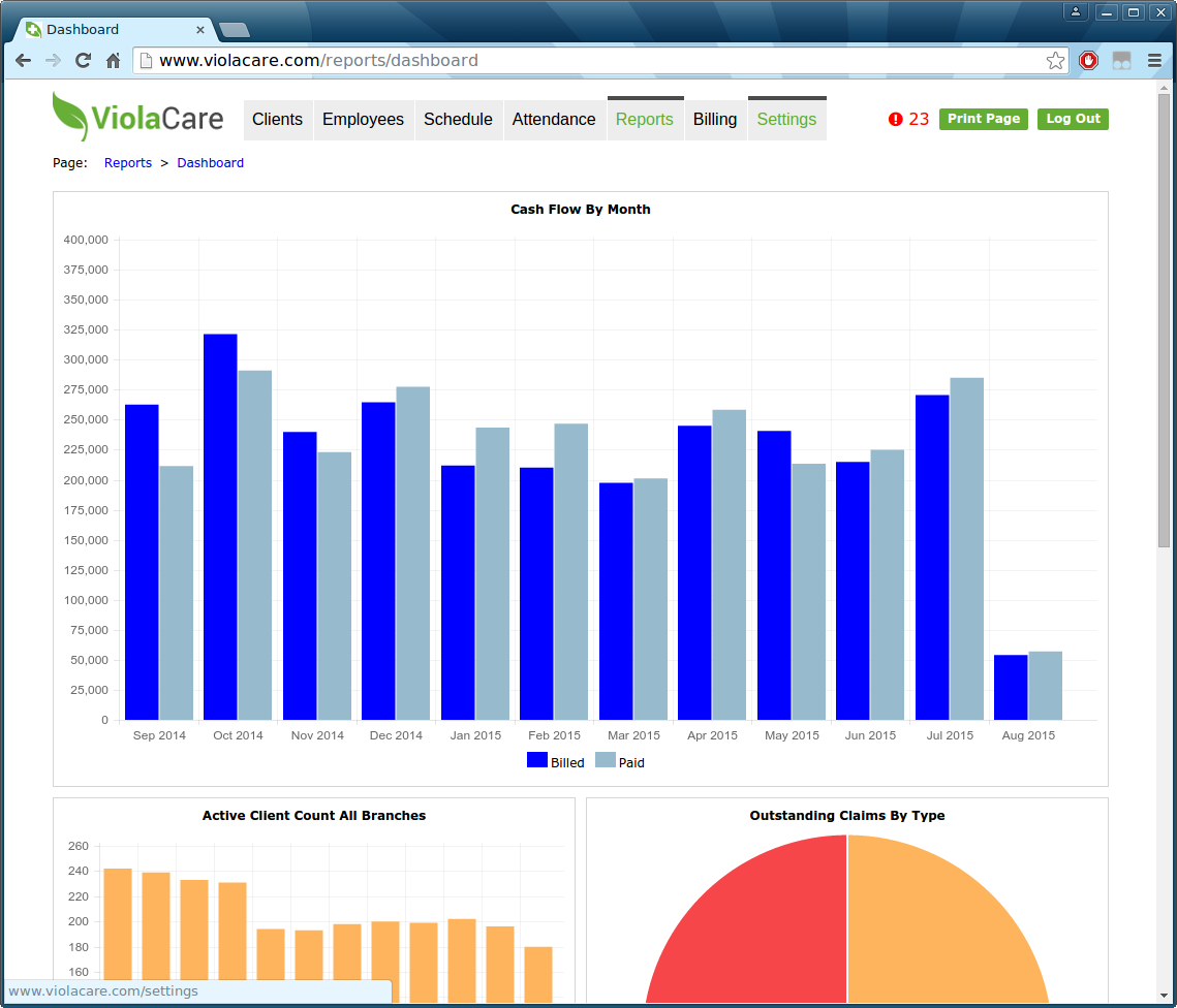 ViolaCare Software - Reports