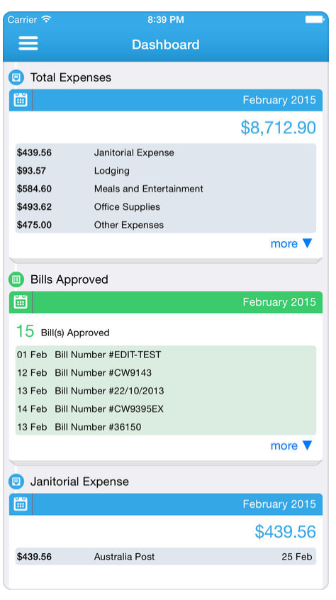 Track expenses via iOS or Android mobile app