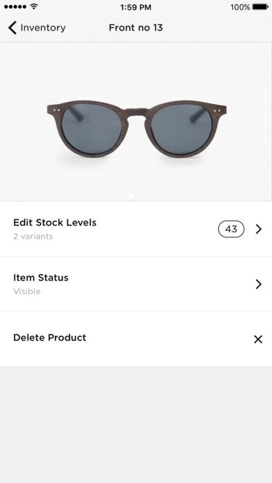 Inventory on mobile app