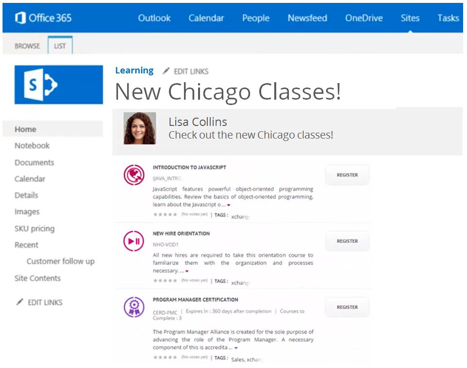 Embeddable widgets in SharePoint