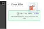 Blackboard Collaborate screenshot: Share files quickly and easily with drag and drop tools