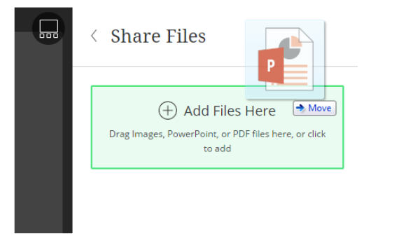 Share files quickly and easily with drag and drop tools