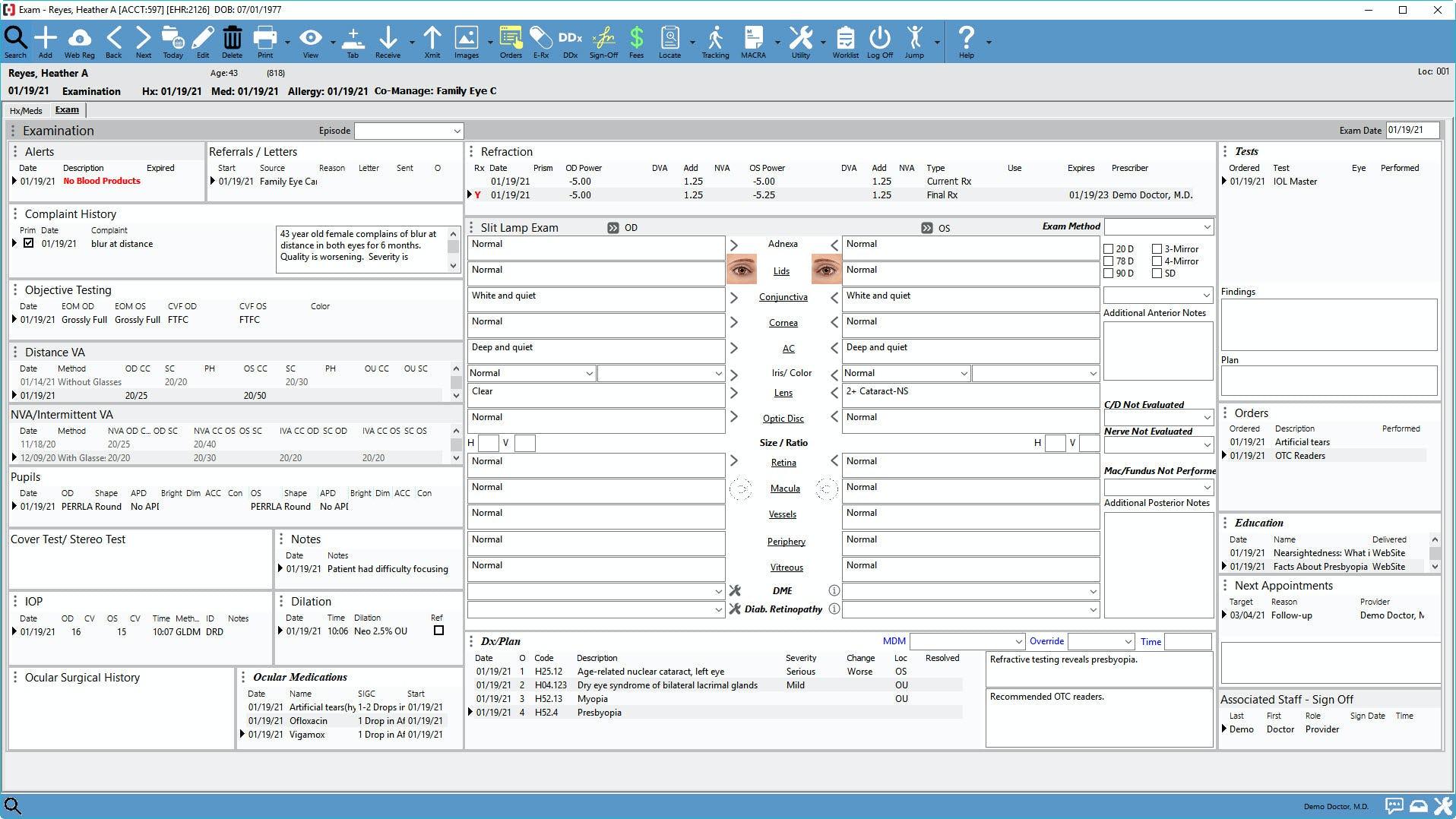 Compulink Healthcare Solutions Software - Eye Care