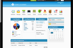 MySchoolWorx screenshot: Gain quick and central access to real-time information on attendance and upcoming events and assignments from the dashboard