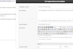 Captura de tela do NABD System: Email, Word, Facebook, Twitter correspondence templates