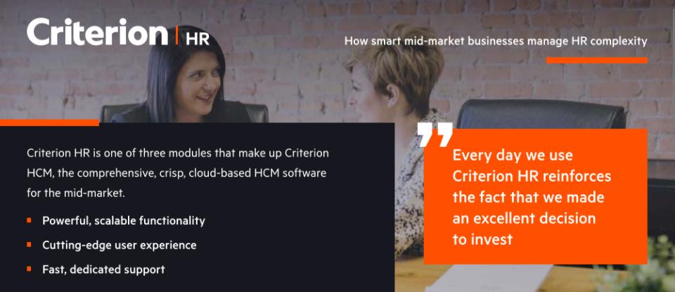 Criterion HCM Software - 2