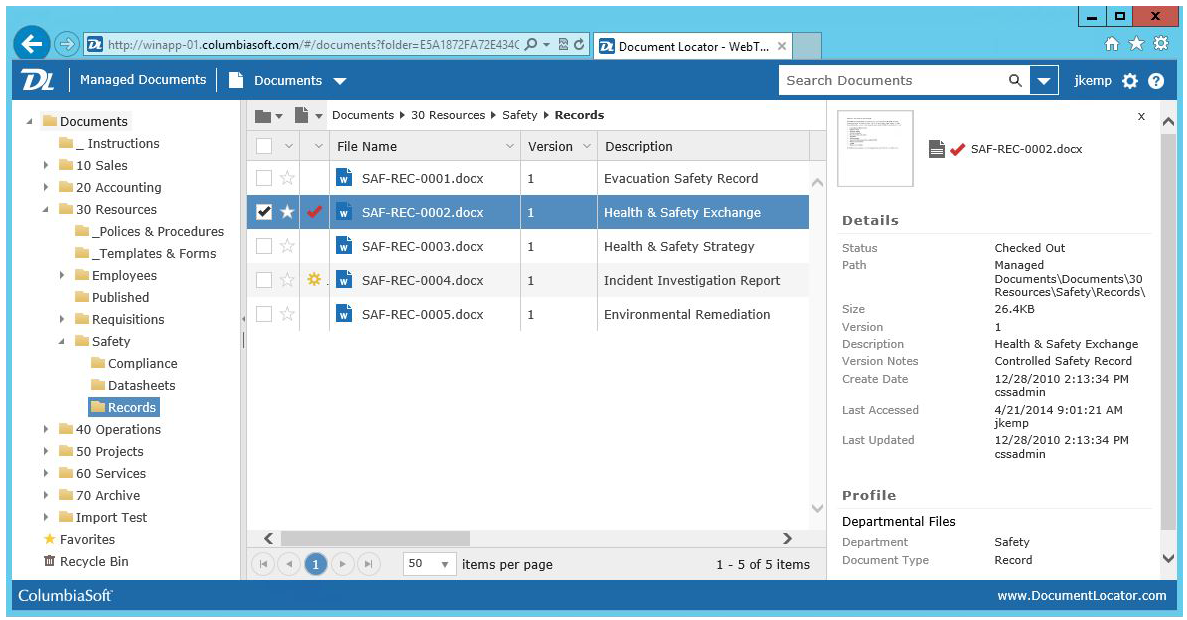 Document Locator Software - 2