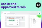 Qordoba screenshot: Set up your brand's approved terms and dictionary for consistent usage   Qordoba
