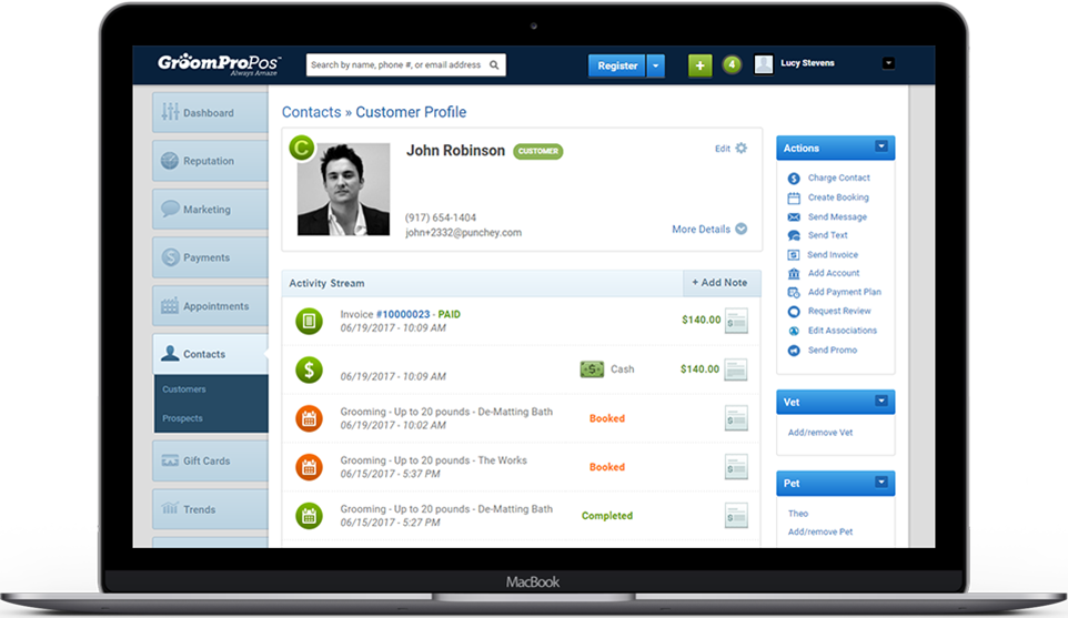 Centralize all your customer data and transactions in one organized place
