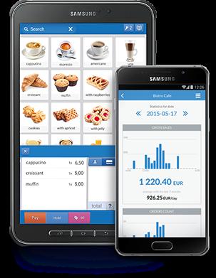 POSbistro tablet app and POSowner smartphone app