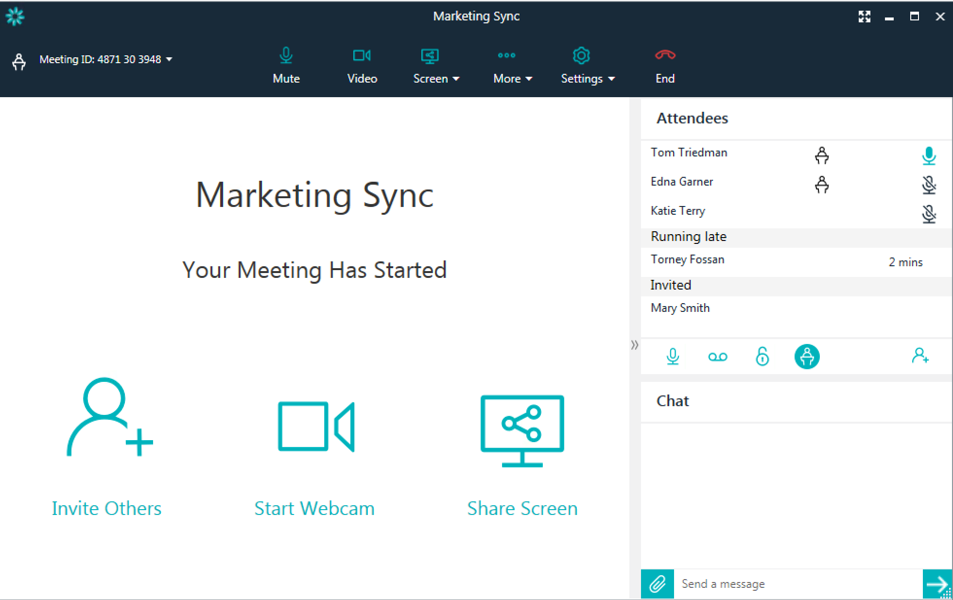 Users can view which participants are present in a meeting using the visual roster