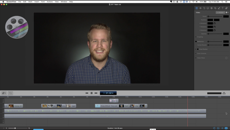 ScreenFlow editor