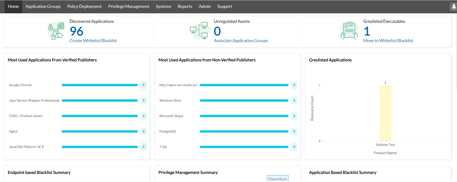 ManageEngine Application Control Plus homepage