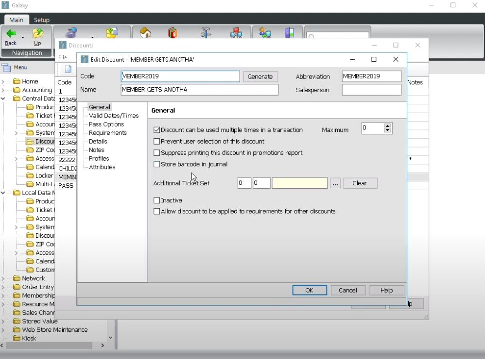 Galaxy screenshot: Galaxy edit discounts