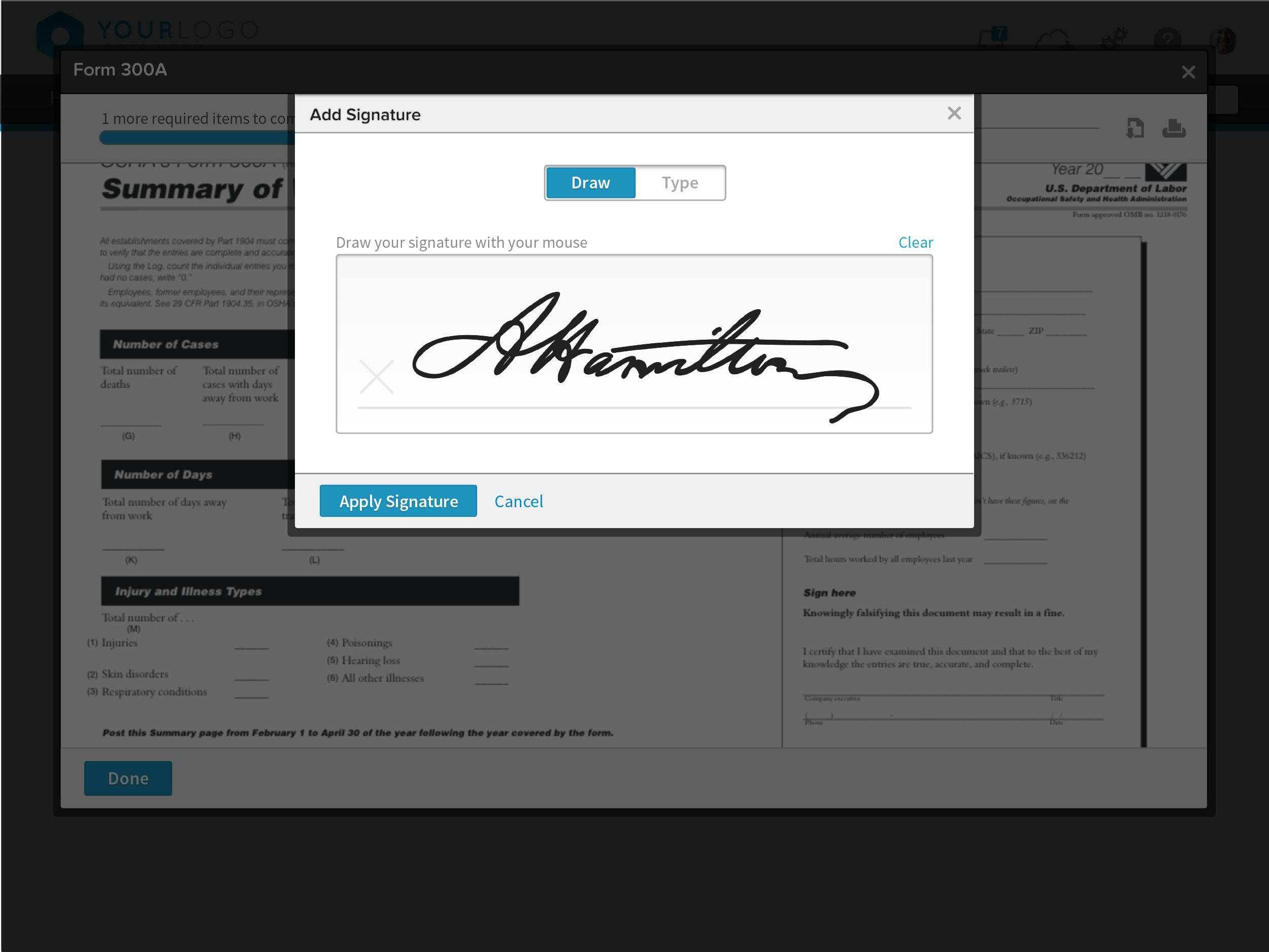 BambooHR E-Signature