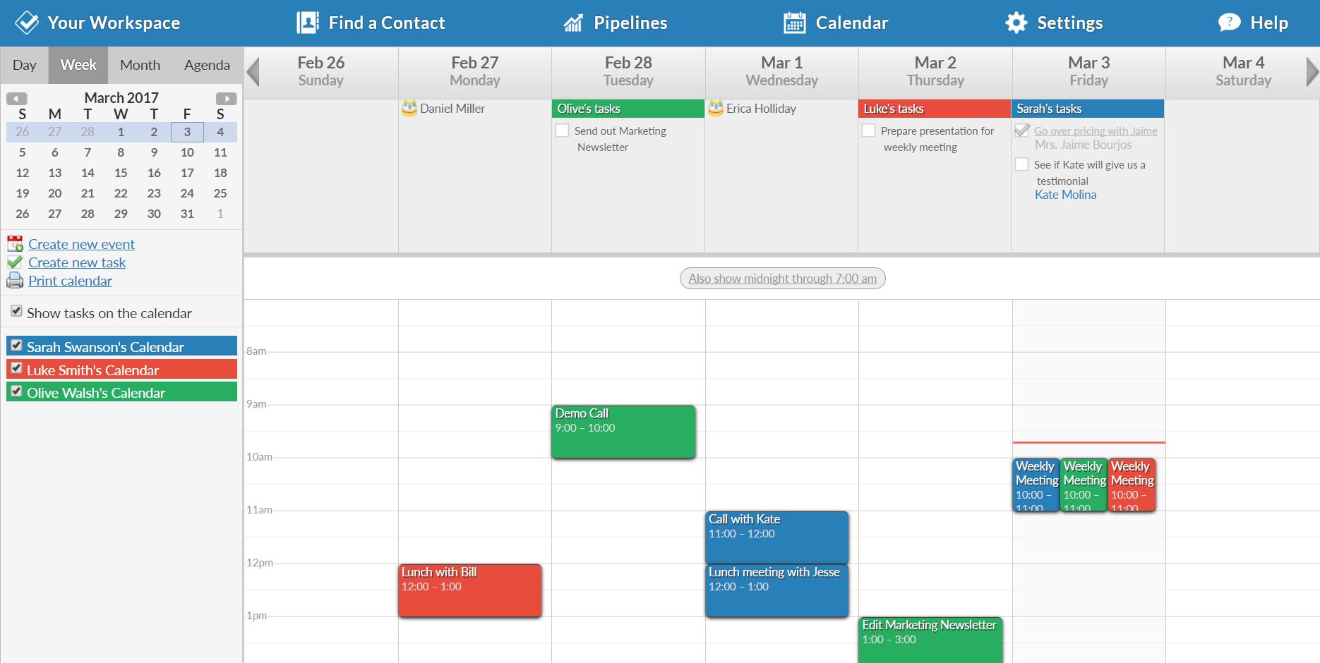 Less Annoying CRM Software - Less Annoying CRM Calendar