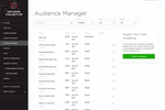 Kochava screenshot: The Audience Manager screen support marketers with a single view onto all created audiences whether custom built, pre-built or imported