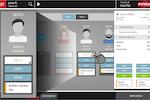 anyWarePOS screenshot: Manage the bar using a visual representation of customers