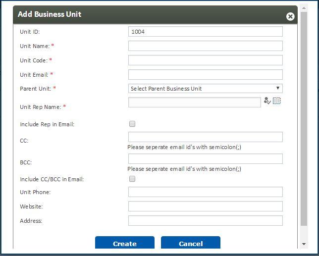 Add business unit