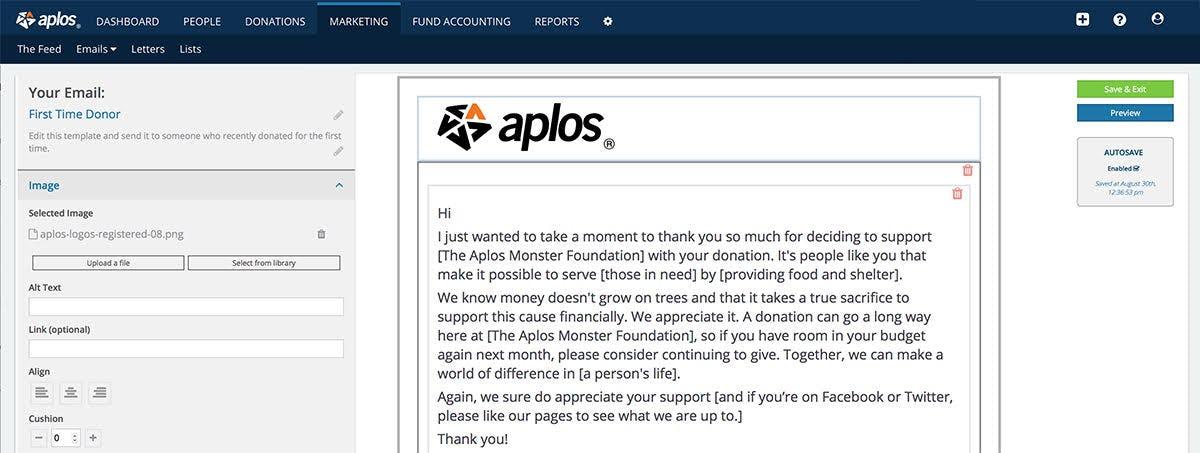 Aplos Software - Marketing