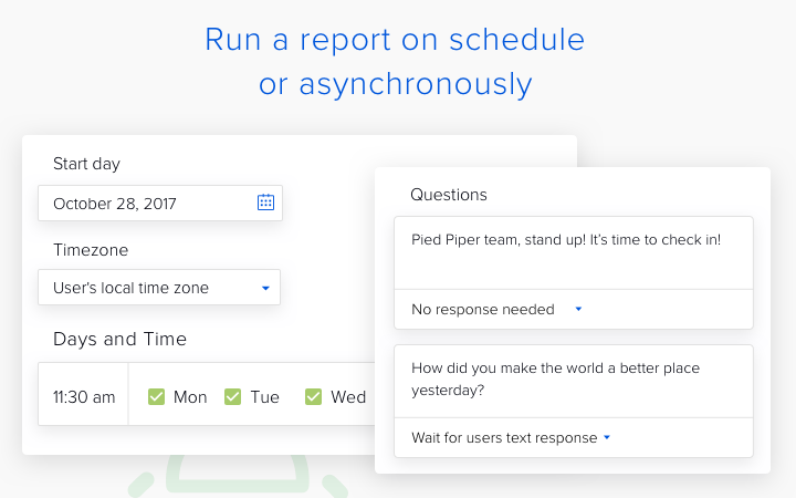 Standuply enables both asynchronous and live standup meetings