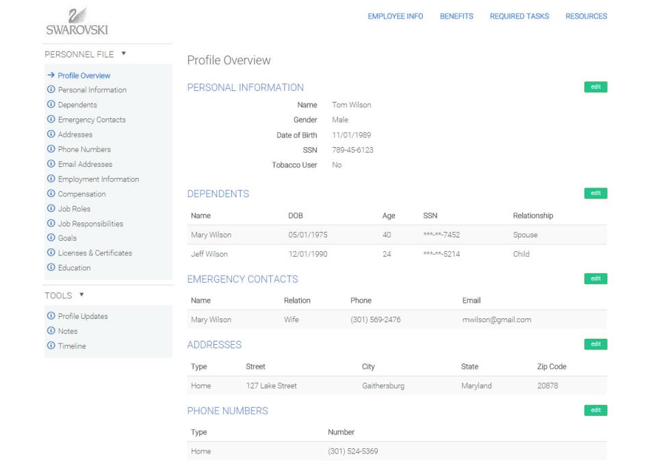 Centralize HR information