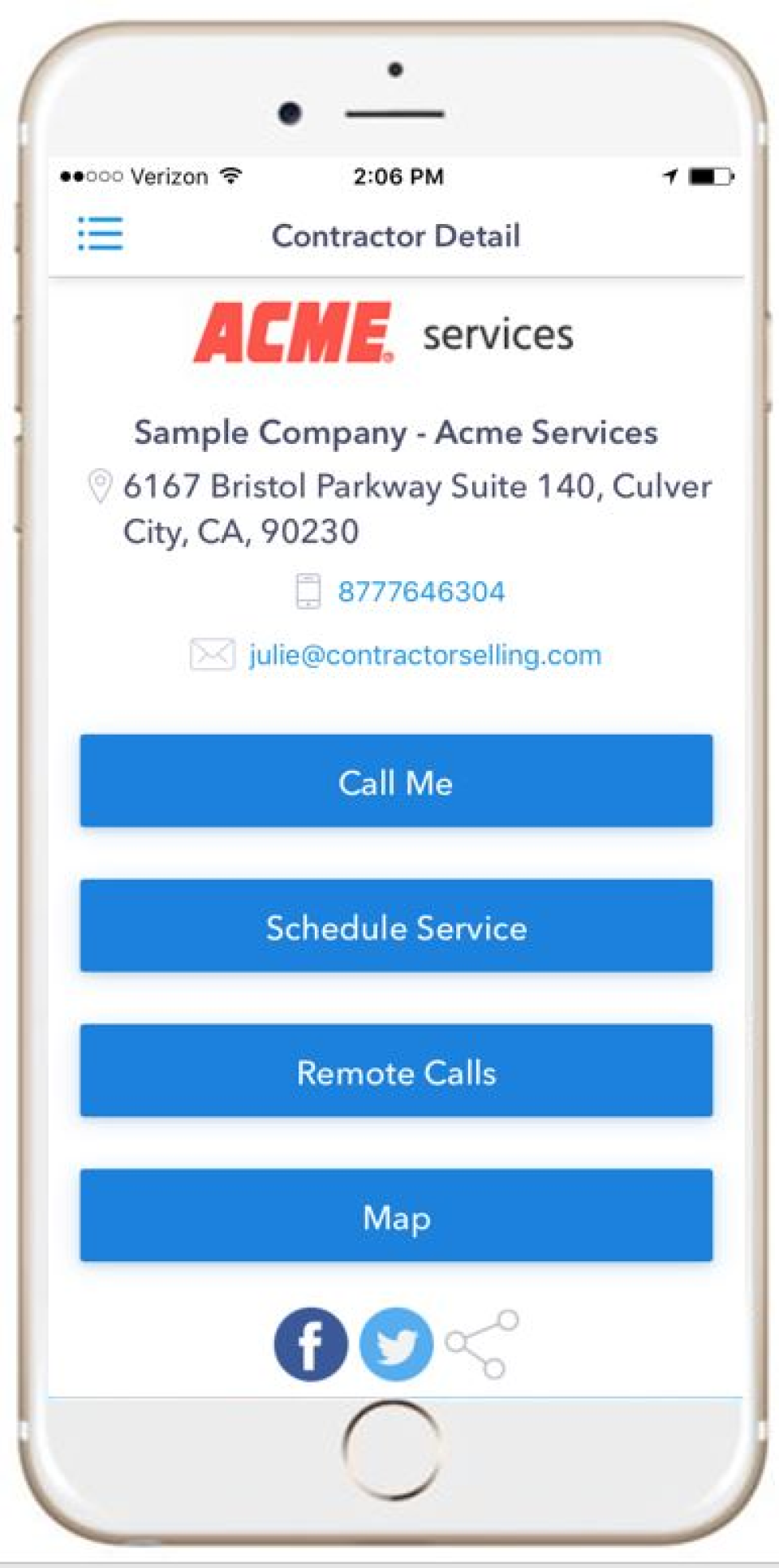 Schedule services from mobile app