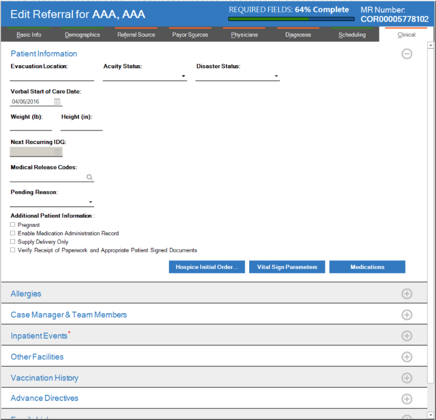 Complete patient referral forms online