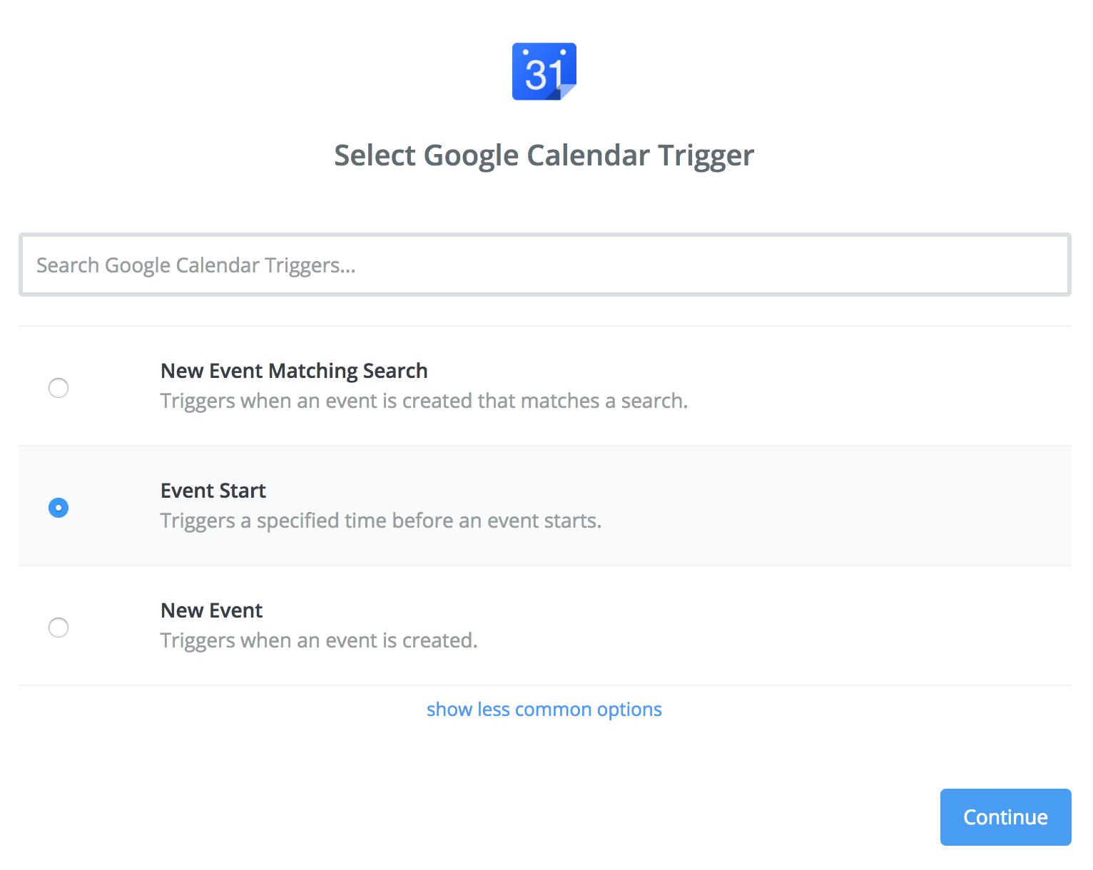 Google Calendar trigger