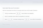 Ziflow screenshot: Ziflow automated reminders