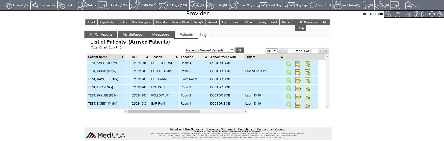 Patient Tracker Board