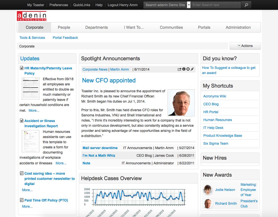 IntelliEnterprise Homepage
