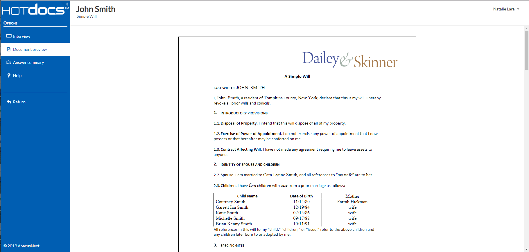 HotDocs Software - Advance Document Preview
