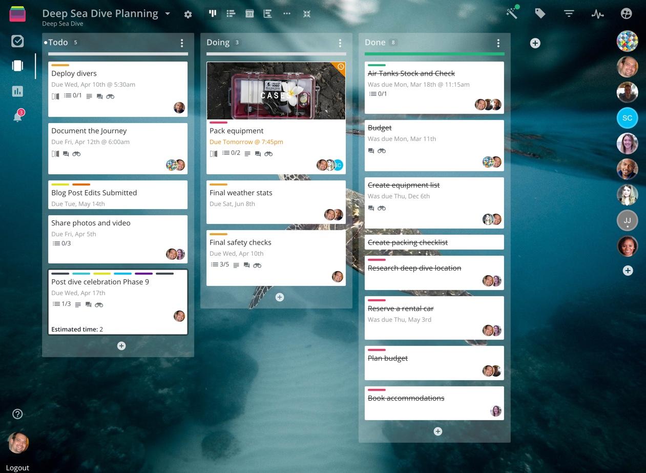 Rindle dashboard screenshot