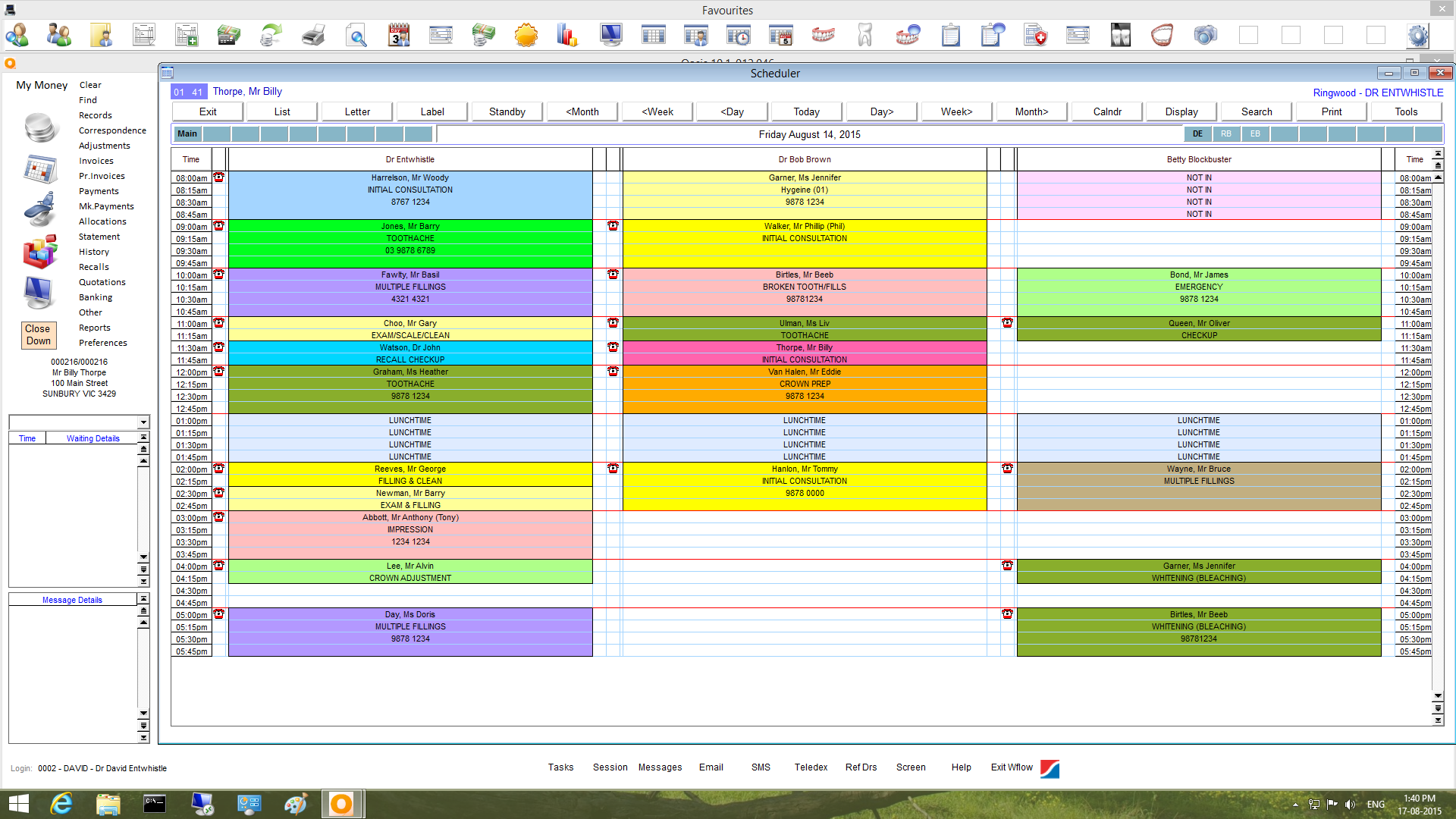 OASIS Software - Scheduler
