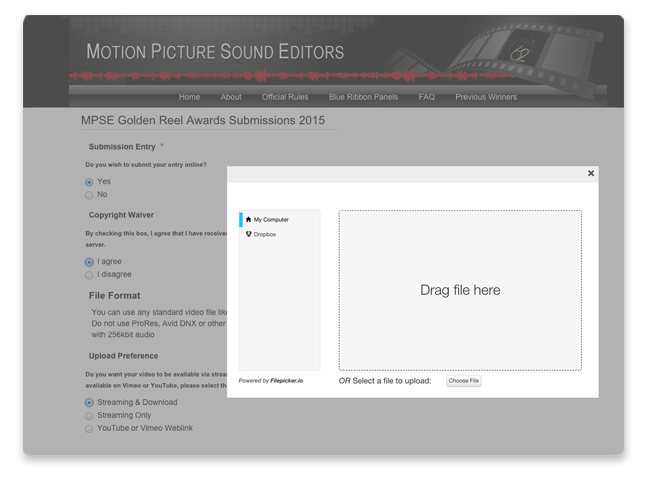 OpenWater Software - OpenWater media upload screenshot