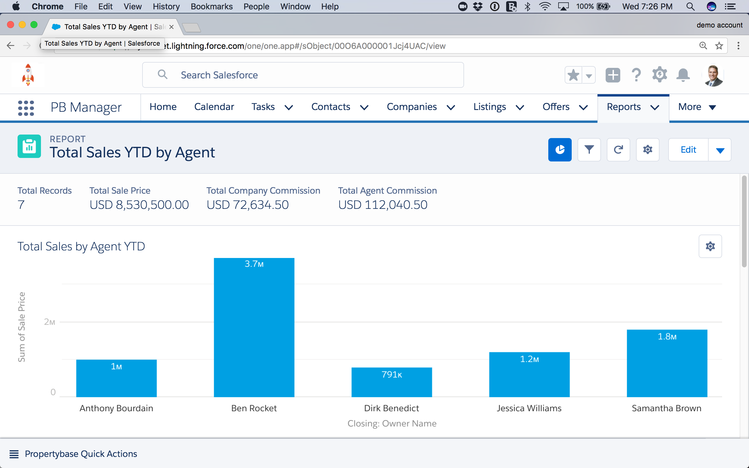 Propertybase Salesforce Edition Software - Reports