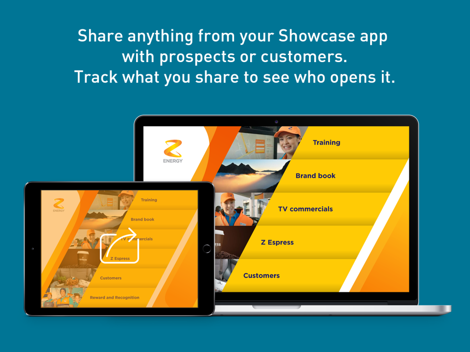 Share files and track engagement within Showcase Workshop
