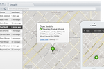 Linxup screenshot: Track vehicle locations  in real time, as well as directions, speed and more