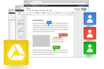 Capture d'écran pour Google Drive : Multiple users can collaborate on file editing at the same time