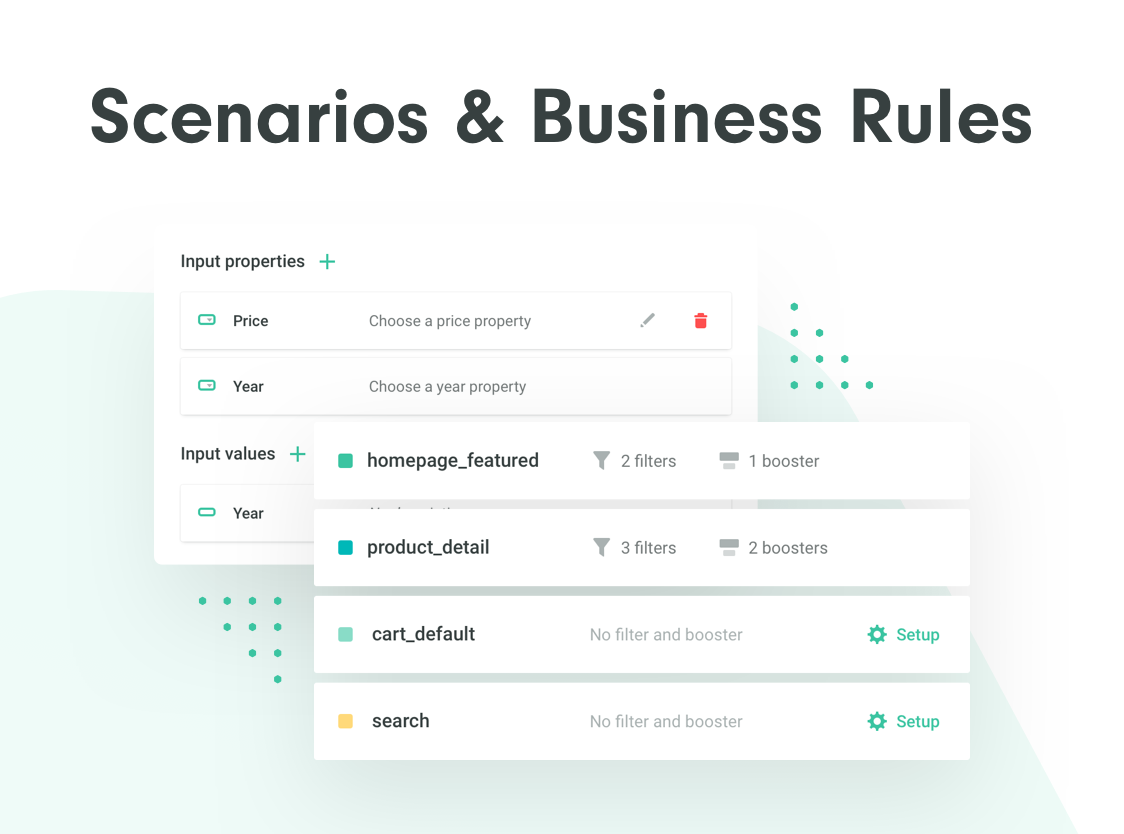 Chose your scenarios and business rules for your use-case