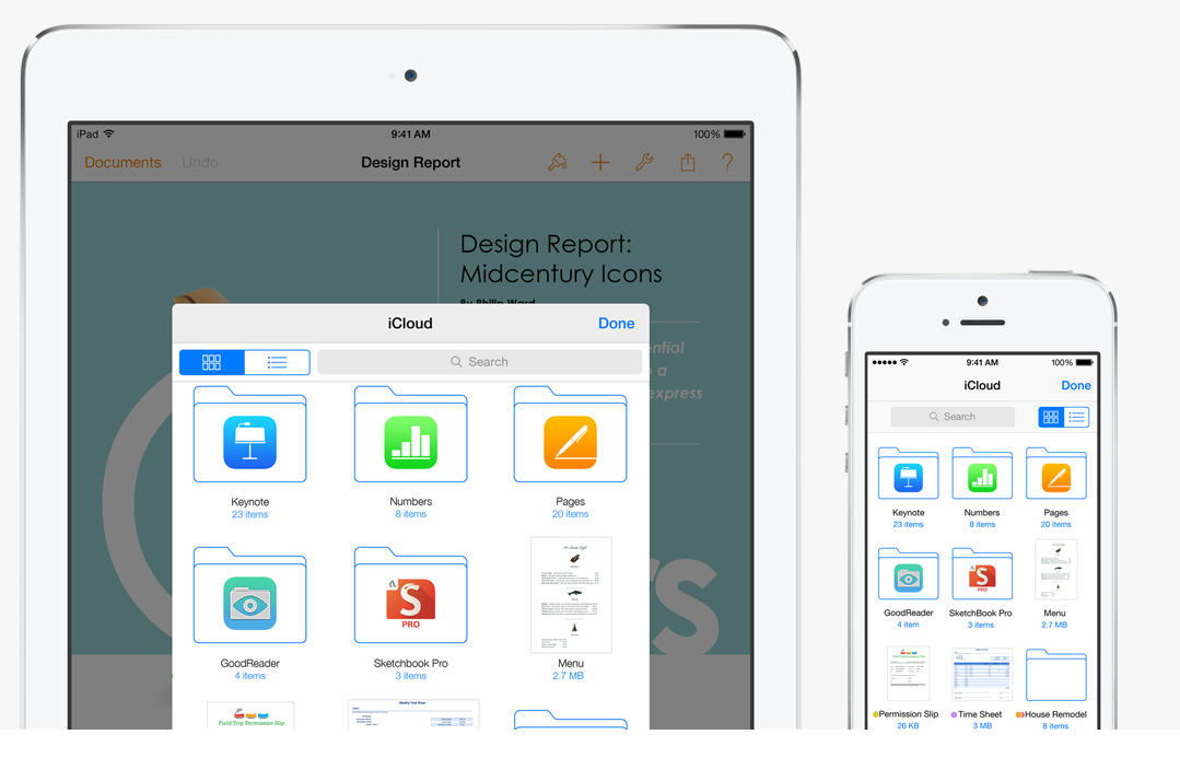 File sharing across multiple apps on iCloud