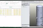 3D CAD Automation screenshot: 3D CAD Automation model update screenshot