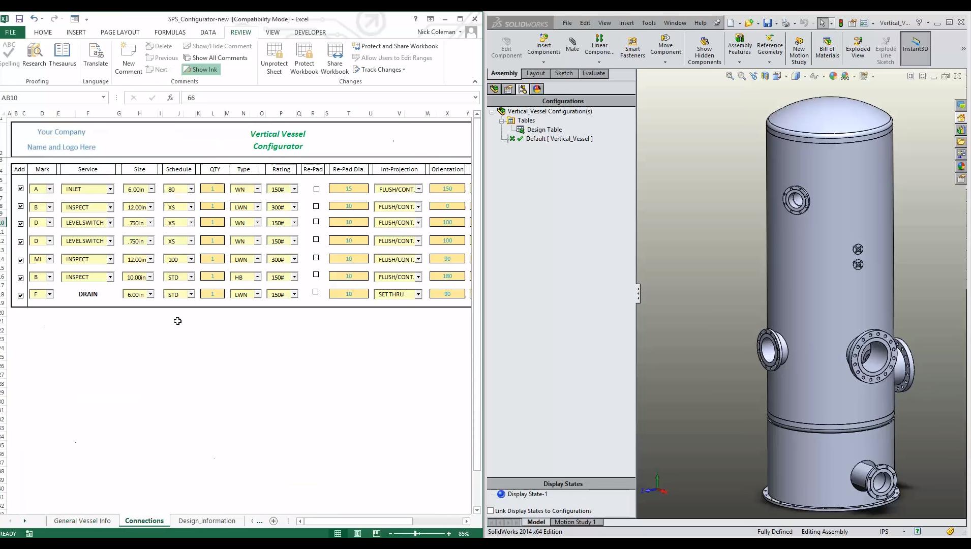 3D CAD Automation model update screenshot