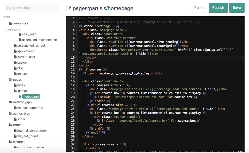 Teachable HTML editor